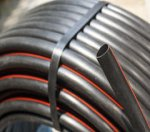 HDPE PE100 MINI-DUCT, BLACK (4 Orange Stripes), 32/28.2 MM